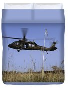 A U.s. Army Uh-60 Black Hawk Helicopter Duvet Cover by Stocktrek Images