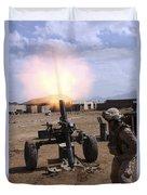 A U.s. Marine Corps Gunner Fires Duvet Cover