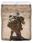 A U.s. Marine Pulls Security While Duvet Cover