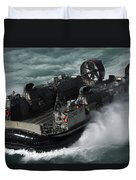A U.s. Navy Landing Craft Air Cushion Duvet Cover
