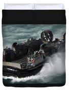 A U.s. Navy Landing Craft Air Cushion Duvet Cover by Stocktrek Images