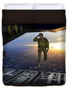 A U.s. Soldier Salutes His Fellow Duvet Cover