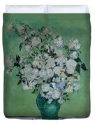 A Vase Of Roses Duvet Cover