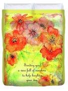 A Vaseful Of Sunshine Duvet Cover
