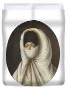 A Veiled Lady Duvet Cover