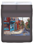 A Vendre Petits Formats L'art De Montreal Originals For Sale Wilensky's Diner Best Montreal Scenes Duvet Cover