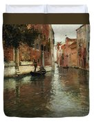 A Venetian Backwater  Duvet Cover by Fritz Thaulow
