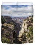 A Vertical View - Grand Canyon Duvet Cover