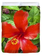 A Very Red Flower Duvet Cover