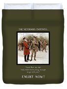 A Veteran's Farewell - Ww1 Duvet Cover