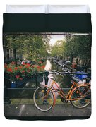 A View Down The Keizersgracht Canal Duvet Cover