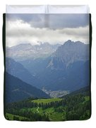 a view from 2200 meter altitude in the dolomite mountains of Italy Duvet Cover
