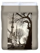 A View From Blue Mosque Duvet Cover