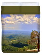 A View From Table Rock Duvet Cover