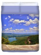 A View From Table Rock South Carolina Duvet Cover