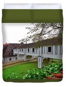 A View From The Cesky Krumlov Castle Gardens At Cesky Krumlov, Czech Republic Duvet Cover