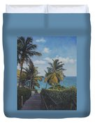 A View In The Virgin Islands Duvet Cover