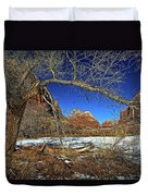A View In Zion Duvet Cover