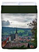 A View Of Cesky Krumlov  Duvet Cover