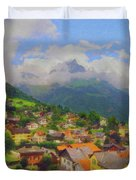 A View Of Engelberg Switzerland Duvet Cover