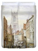 A View Of Irongate Duvet Cover by Louise J Rayner