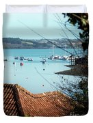 A View Of Mylor Harbour Duvet Cover