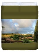A View Of Prince Kuhio Park Duvet Cover