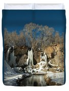A View Of Rifle Falls Duvet Cover