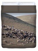 A View Of Sheep In The Judean Desert Duvet Cover