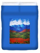 A View Of The Blue Mountains Of The Adirondacks Duvet Cover
