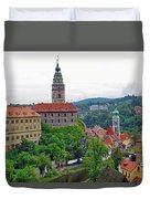 A View Of The Cesky Kromluv Castle Complex In The Czech Republic Duvet Cover