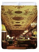 A View Of The Chatsworth House Library, England Duvet Cover