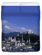 A View Of The City Of Salzburg From An Duvet Cover