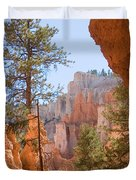 A View Of The Hoodoos And Erosion Duvet Cover