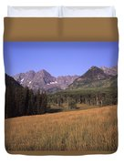 A View Of The Maroon Bells Mountains Duvet Cover