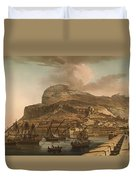 A View Of The Rock Of Gibraltar From The Spanish Lines 1782 Duvet Cover