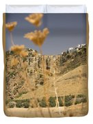 A View Of The Tajo De Ronda And Puente Nuevo Bridge Serrania De Ronda Andalucia Spain Duvet Cover