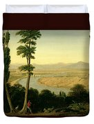A View Of The Tiber And The Roman Campagna From Monte Mario Duvet Cover