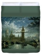A View Of Westminster Abbey And The Houses Of Parliament Duvet Cover