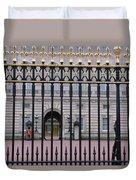 A View Through The Gates At Buckingham Duvet Cover