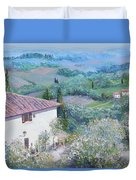 A Villa In Tuscany Duvet Cover