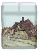 A Village Street Kent Duvet Cover by Helen Allingham