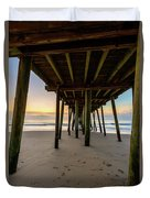 A Virginia Beach Morning Duvet Cover