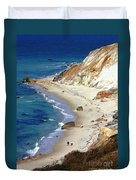 A Walk Along Aquinnah Beach Duvet Cover