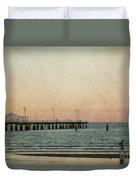 A Walk At Sunset Duvet Cover