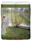 A Walk By The River Duvet Cover