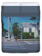 A Walk In Key West Duvet Cover