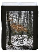 A Walk In The Snow Quantico National Cemetery Duvet Cover