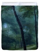 A Walk In The Woods Madame Lecoeur And Her Children 1870 Duvet Cover