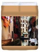 A Walk In Venice Duvet Cover